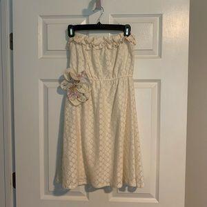Judith March Cream Strapless Dress